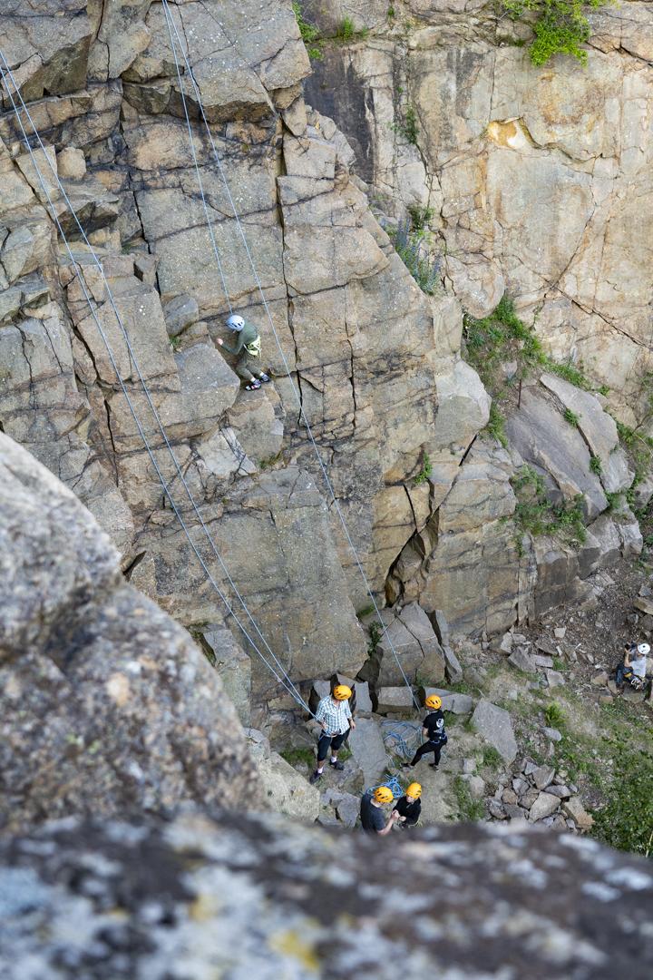 Bornholms høje klipper er exceptionelle til klatring
